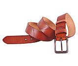 Мужской кожаный ремень Dovhani BUFF000-2 Рыжий, фото 2