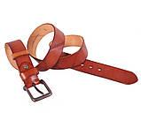 Мужской кожаный ремень Dovhani BUFF000-2 Рыжий, фото 3