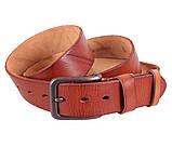 Мужской кожаный ремень Dovhani BUFF000-2 Рыжий, фото 5