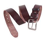Мужской кожаный ремень Dovhani BUFF000-7 115-130 см Коричневый, фото 2