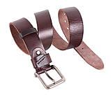 Мужской кожаный ремень Dovhani BUFF000-7 115-130 см Коричневый, фото 4