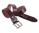 Мужской кожаный ремень Dovhani BUFF000-7 115-130 см Коричневый, фото 5
