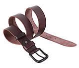 Мужской кожаный ремень Dovhani BUFF000-9 115-130 см Коричневый, фото 2