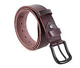 Мужской кожаный ремень Dovhani BUFF000-9 115-130 см Коричневый, фото 4