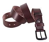 Мужской кожаный ремень Dovhani BUFF000-9 115-130 см Коричневый, фото 6