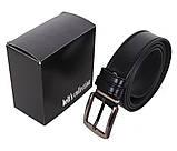 Мужской кожаный ремень Dovhani L409-199 115-125 см Черный, фото 4