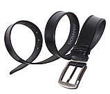 Мужской кожаный ремень Dovhani L410-199 115-125 см Черный, фото 3