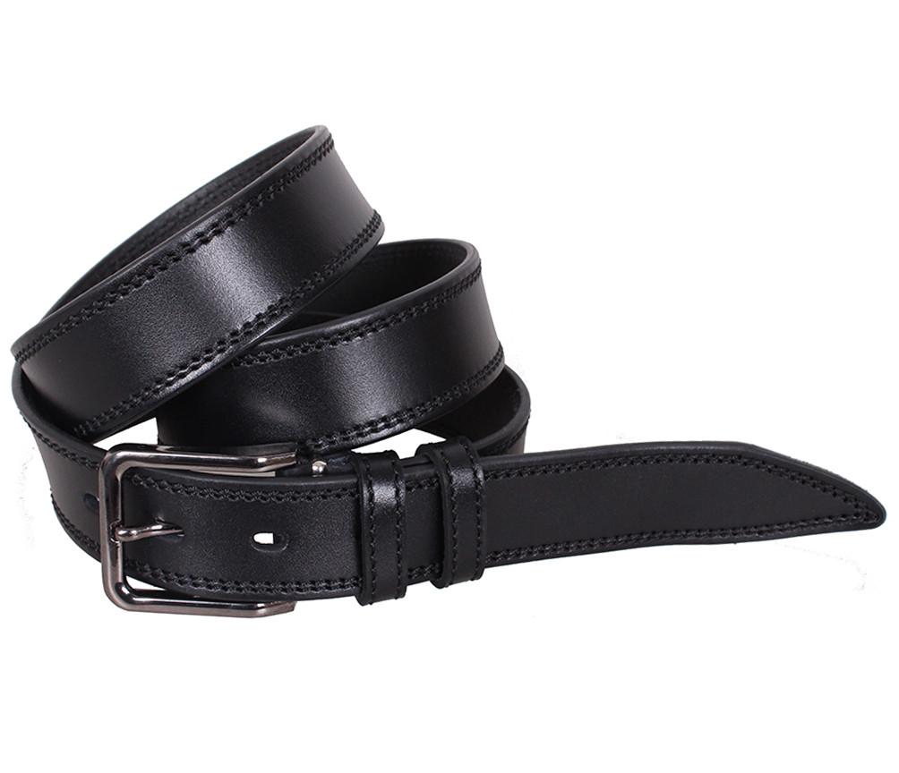 Мужской кожаный ремень Dovhani L412-199 115-125 см Черный