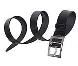 Мужской кожаный ремень Dovhani LL25-193 115-125 см Черный, фото 3