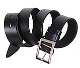 Мужской кожаный ремень Dovhani LL29-193 115-125 см Черный, фото 2