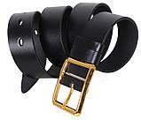 Мужской кожаный ремень Dovhani LL36-193 115-125 см Черный, фото 2