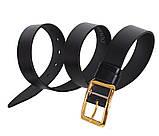 Мужской кожаный ремень Dovhani LL36-193 115-125 см Черный, фото 3