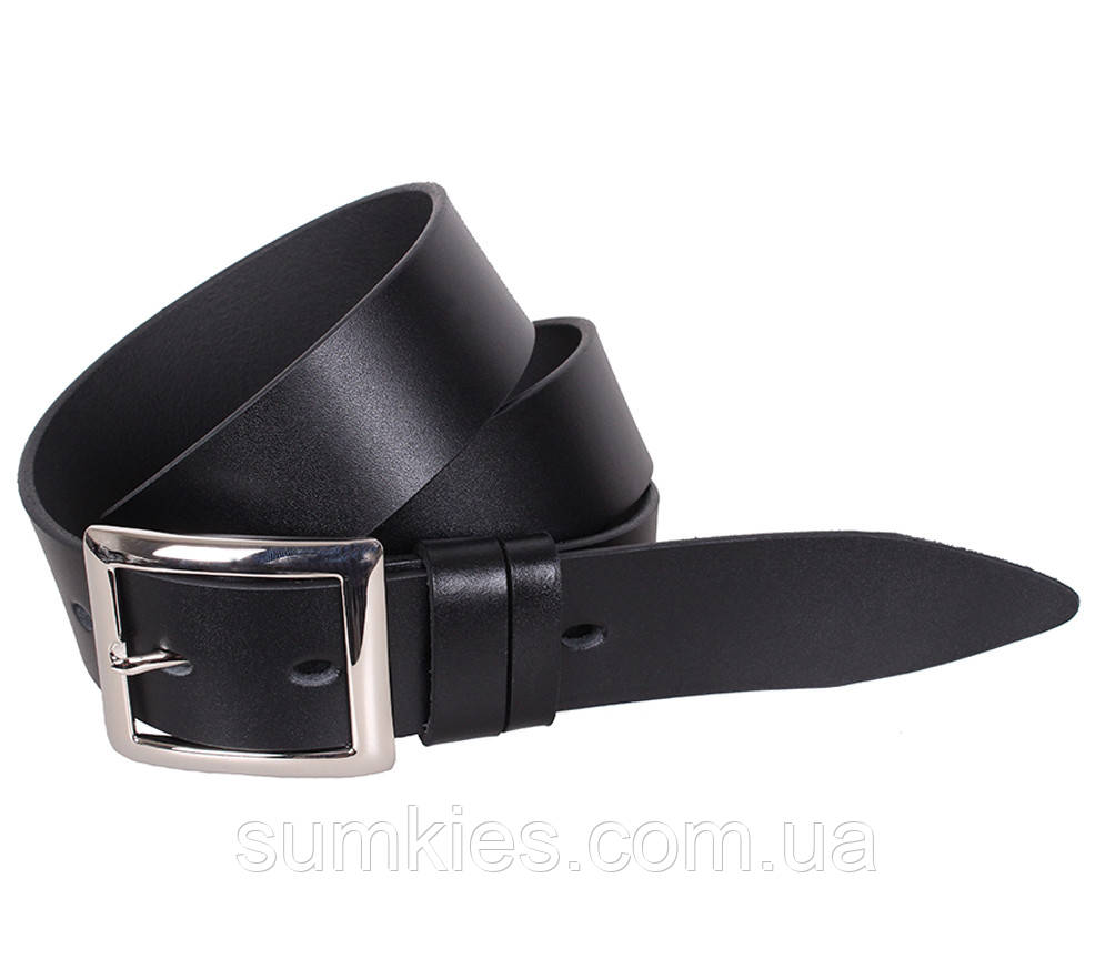 Мужской кожаный ремень Dovhani LL42-193 115-125 см Черный