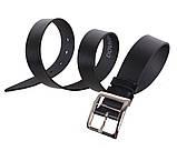 Мужской кожаный ремень Dovhani LL42-193 115-125 см Черный, фото 3