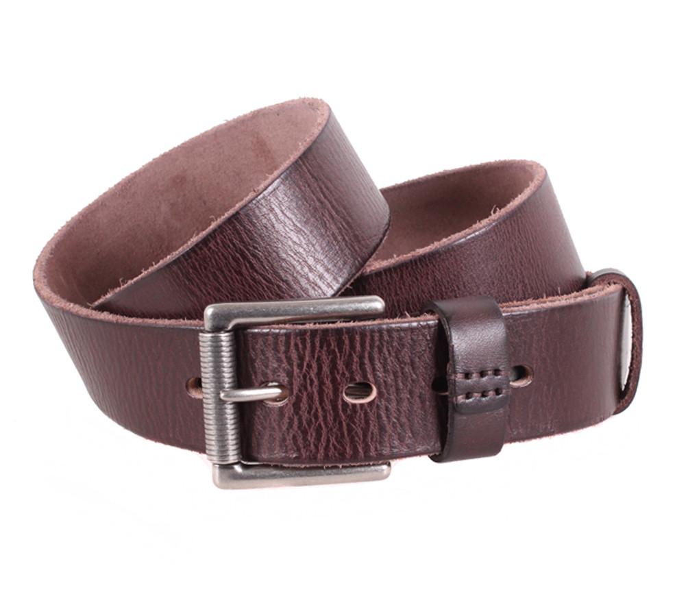 Мужской кожаный ремень Dovhani BUFF000-11 115-130 см Коричневый