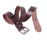 Мужской кожаный ремень Dovhani BUFF000-11 115-130 см Коричневый, фото 4