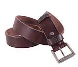 Мужской кожаный ремень Dovhani BUFF000-11 115-130 см Коричневый, фото 5