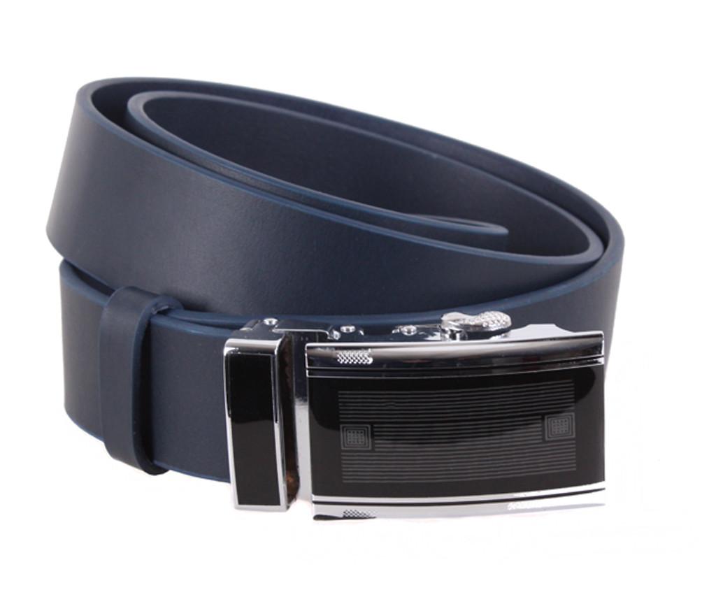 Мужской кожаный ремень Dovhani ALD666-26 115-125 см Синий