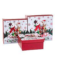 """Набор коробок для подарков подарочные 3-х коробок """"Веселые друзья"""" 20*20*9,5 (8211-066)"""