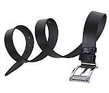 Мужской кожаный ремень Dovhani LL502-199 115-125 см Черный, фото 3