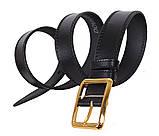 Мужской кожаный ремень Dovhani LP604-199 115-125 см Черный, фото 3