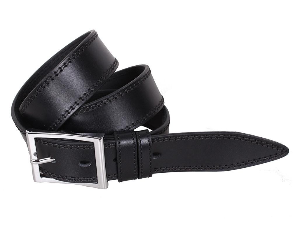 Мужской кожаный ремень Dovhani LP607-199 115-125 см Черный