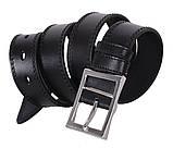Мужской кожаный ремень Dovhani LP607-199 115-125 см Черный, фото 2