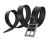 Мужской кожаный ремень Dovhani LP607-199 115-125 см Черный, фото 3