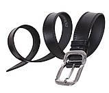 Мужской кожаный ремень Dovhani LP610-199 115-125 см Черный, фото 3