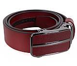 Мужской кожаный ремень Dovhani MGA101-3 105-125 см Красный, фото 3