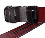 Мужской кожаный ремень Dovhani MGA101-3 105-125 см Красный, фото 4