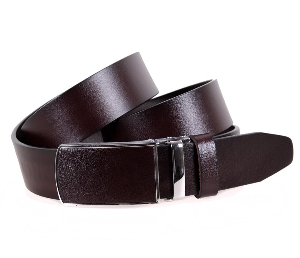 Мужской кожаный ремень Dovhani MGA101-9 105-125 см Коричневый