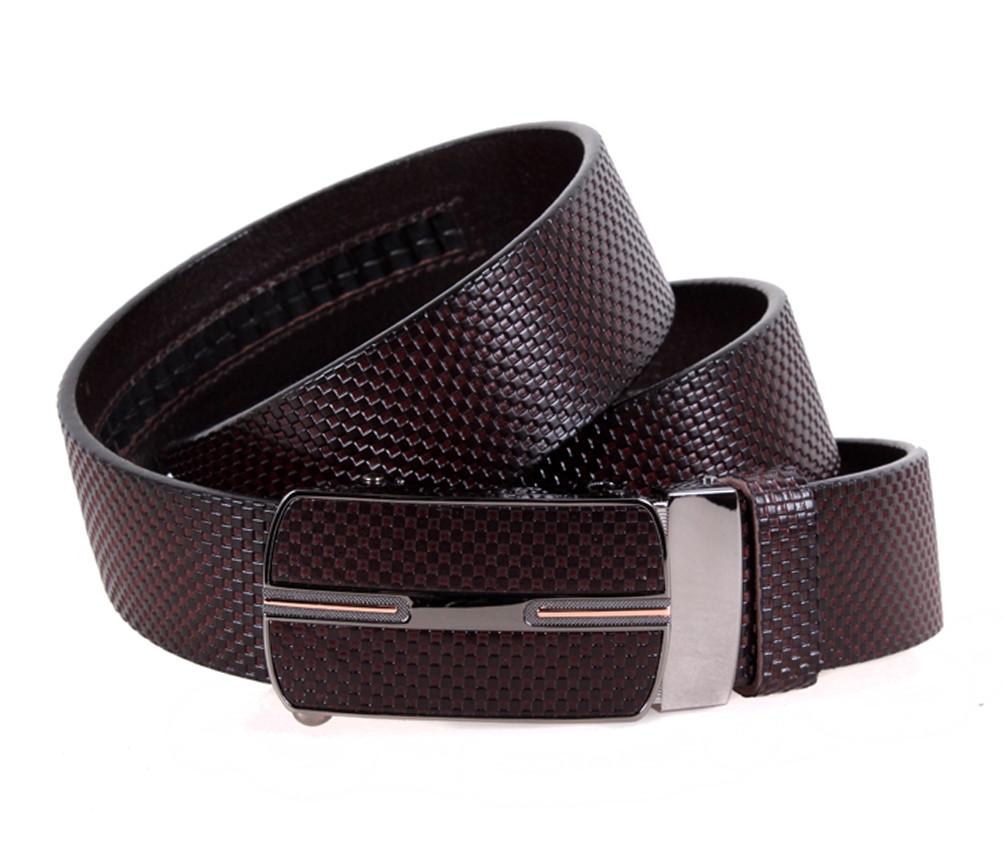 Мужской кожаный ремень Dovhani MGA101-13 105-125 см Коричневый
