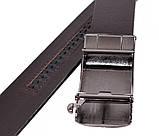 Мужской кожаный ремень Dovhani MGA101-13 105-125 см Коричневый, фото 4