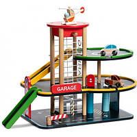 Деревянная игрушка Гараж Парковка Спуск Classic World CW 53658