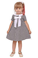 """Платье  для девочки с рукавом   М -1160 рост от 98 до 122 размера тм """"Попелюшка"""", фото 1"""
