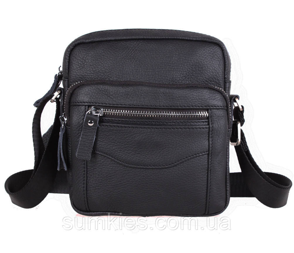 Мужская кожаная сумка Dovhani Dov-30166 Черная