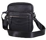 Мужская кожаная сумка Dovhani Dov-30166 Черная, фото 2
