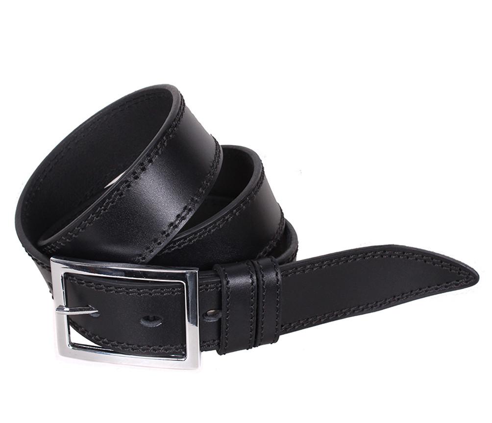 Мужской кожаный ремень Dovhani LP613-199 115-125 см Черный
