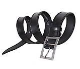Мужской кожаный ремень Dovhani LP613-199 115-125 см Черный, фото 3