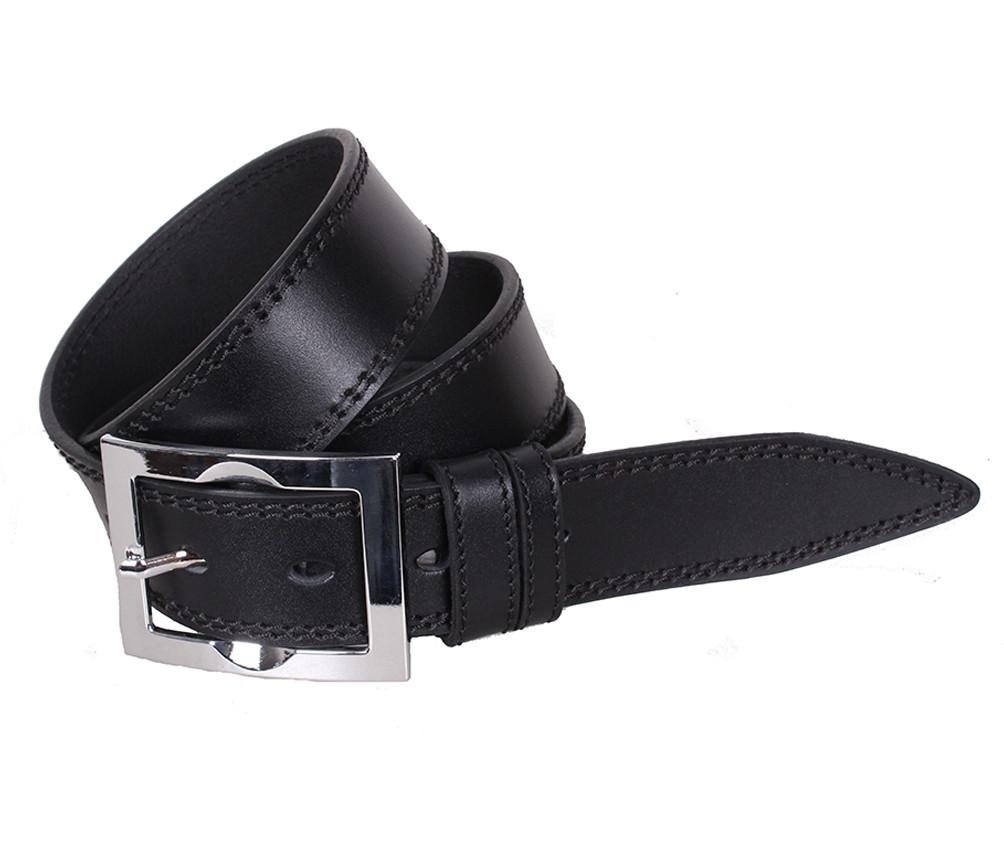 Мужской кожаный ремень Dovhani LP614-199 115-125 см Черный