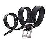 Мужской кожаный ремень Dovhani LP614-199 115-125 см Черный, фото 3