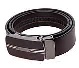 Мужской кожаный ремень Dovhani MGA101-15 105-125 см Коричневый, фото 4