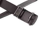 Мужской кожаный ремень Dovhani MGA101-15 105-125 см Коричневый, фото 5