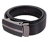 Мужской кожаный ремень Dovhani MGA101-17 105-125 см Черный, фото 4