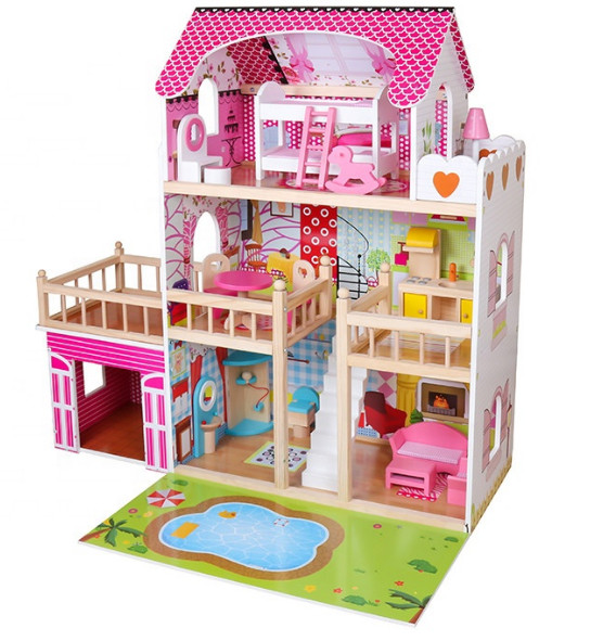 Ляльковий будиночок Венеція Avko  + лед підсвітка + ляльки