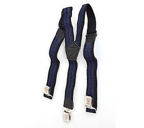 Подтяжки мужские Dovhani P001-5BLWBLUE Черные-Синие