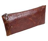 Винтажный кошелек из кожи LA8915-1BR Коричневый, фото 2