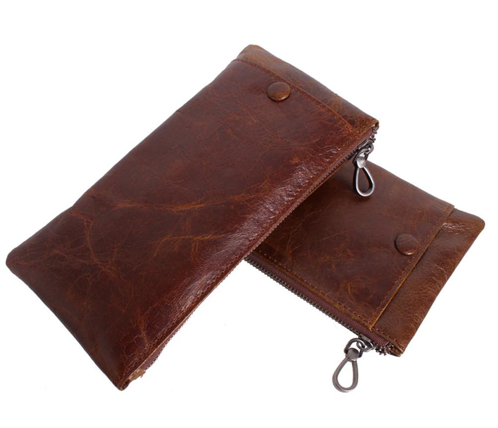 Винтажный кошелек из кожи LA8915-1BR Коричневый