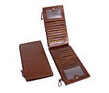 Качественный и стильный портмоне из кожи LA9852-3BCF Коричневый, фото 3